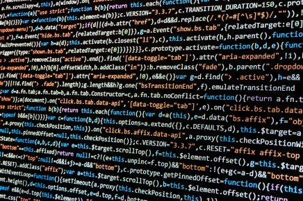 Computer screen showing massive data