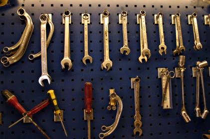 Various mechanic's tools